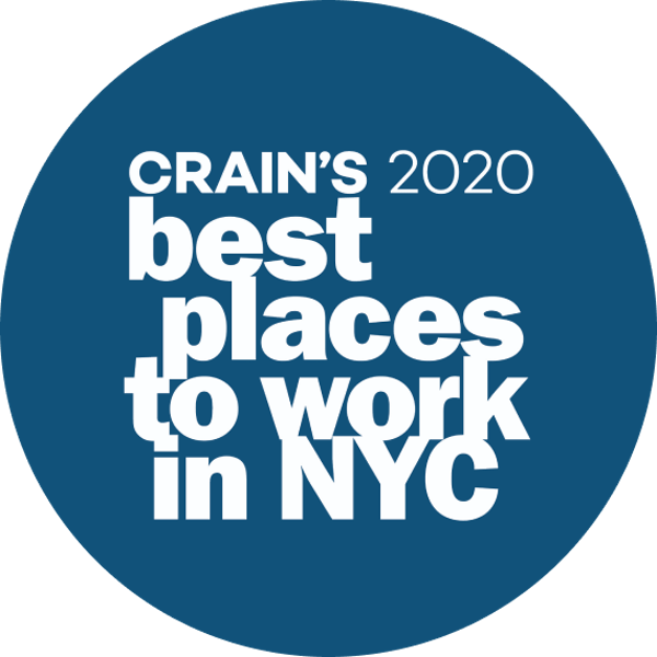 Crain's 2020 Best Places to Work in NYC