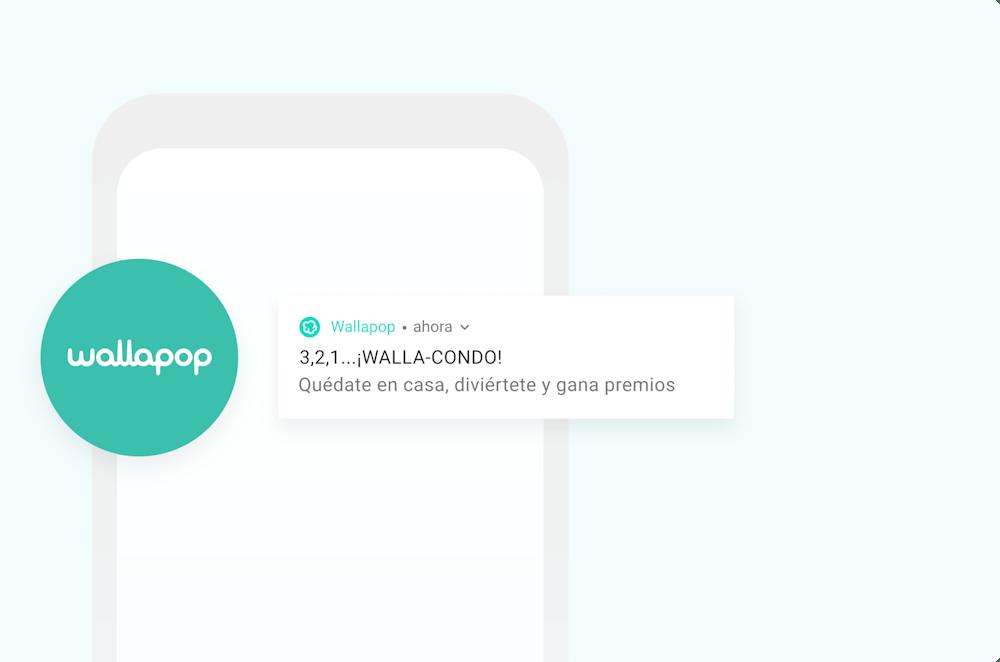 Wallapop logo and push notification
